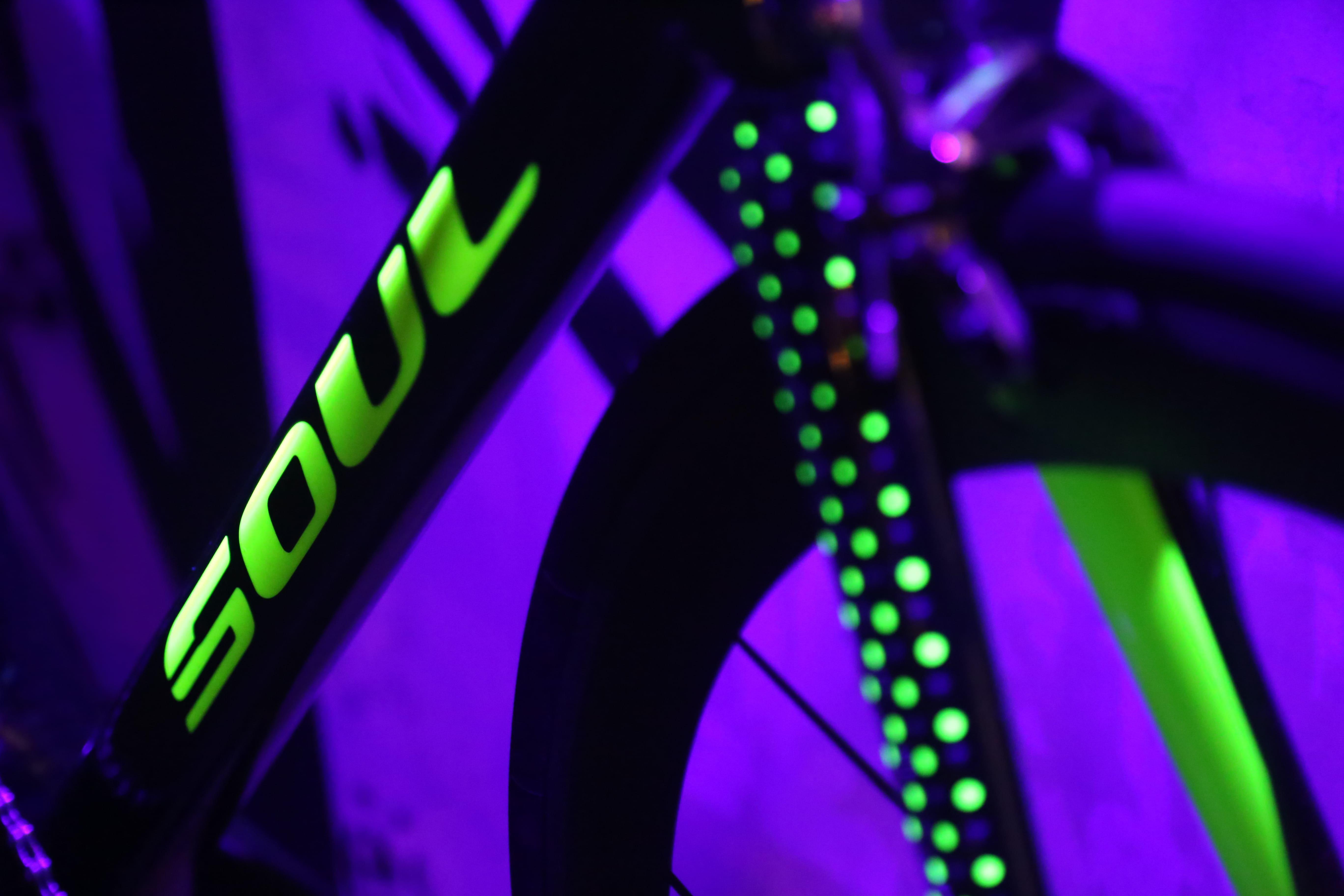Detalhes do garfo e do quadro da nova bicicleta da Soul Cycles, Murilo Fischer Limited Edition