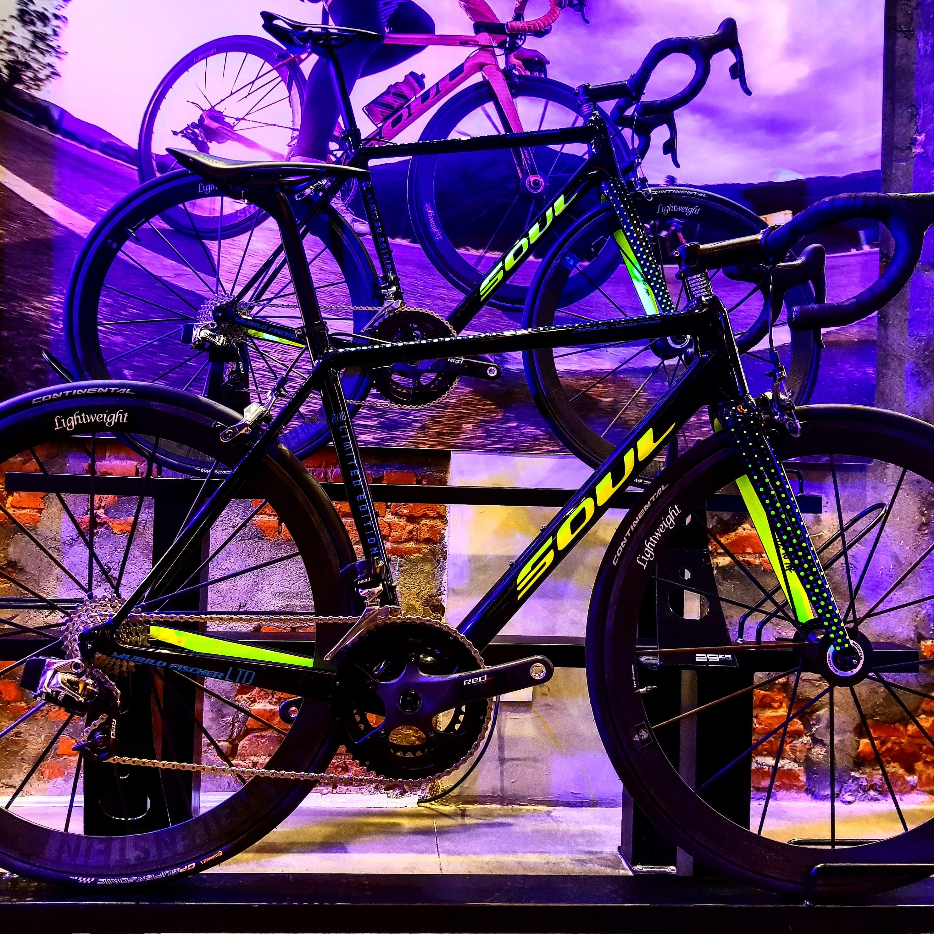 Duas bicicletas Murilo Fischer Limited Edition expostas em nossa loja