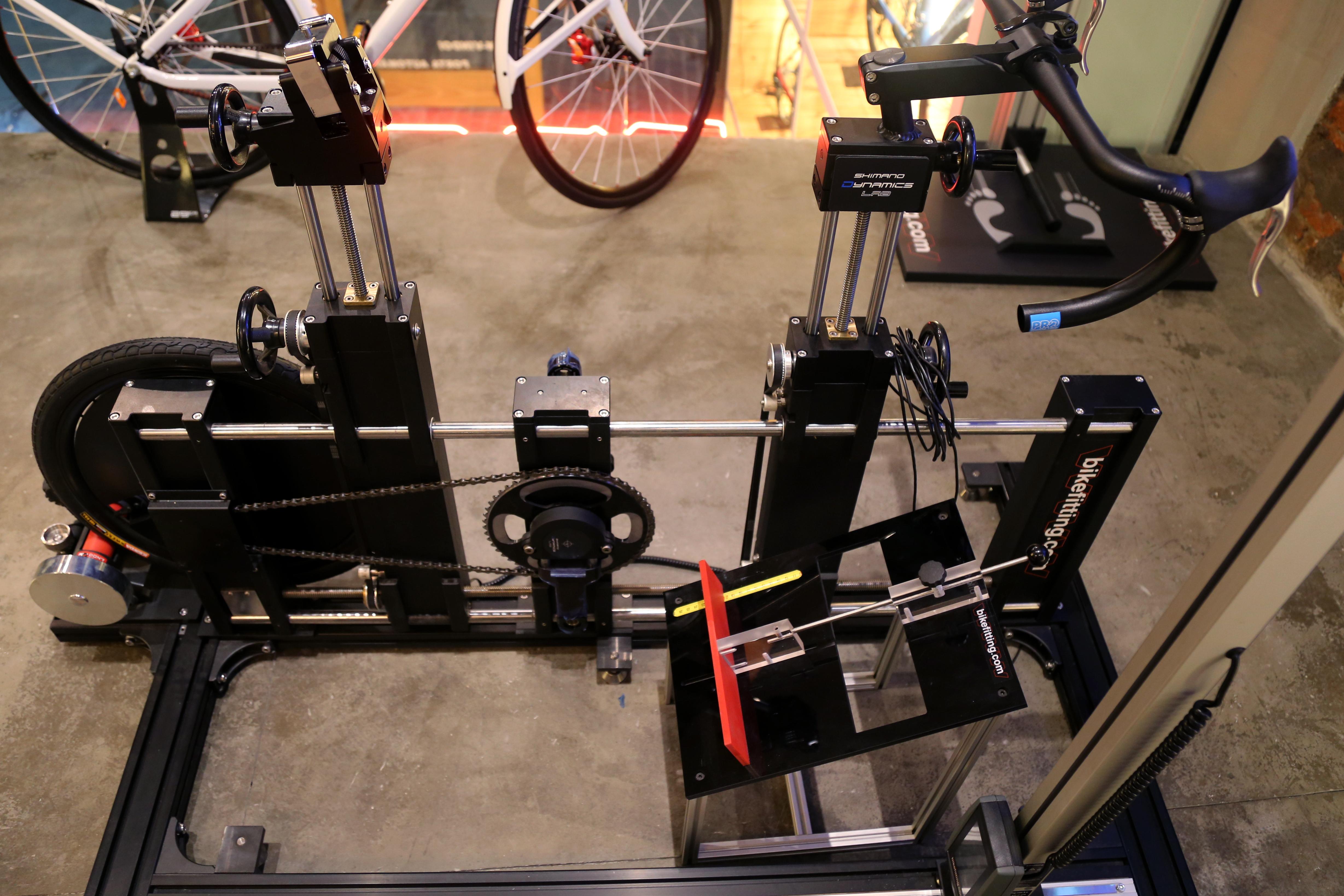 Foto do bike fit na loja da Bicicletaria Faria Lima